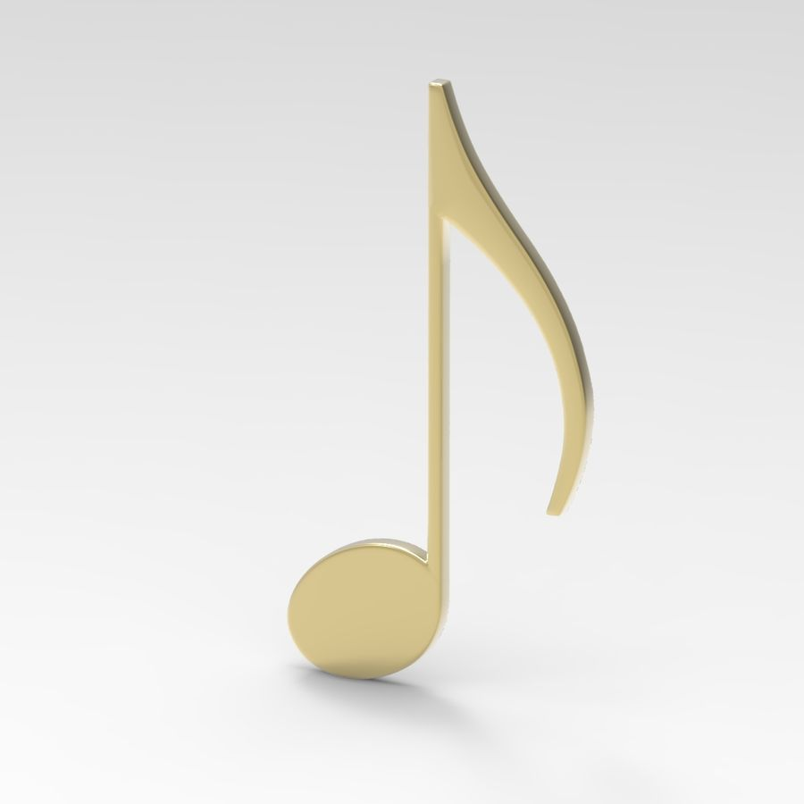 Musical Notes royalty-free 3d model - Preview no. 3