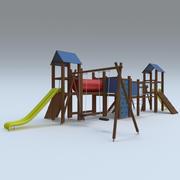 terrain de jeux 3d model