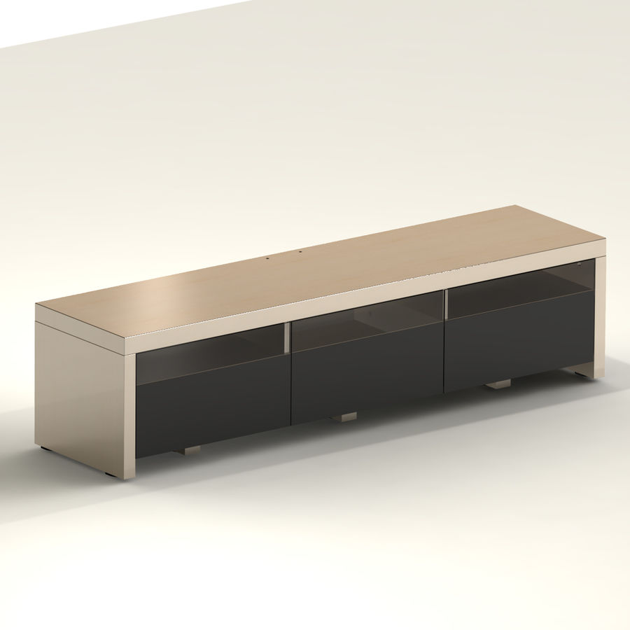TV Furniture Drawers royalty-free 3d model - Preview no. 3