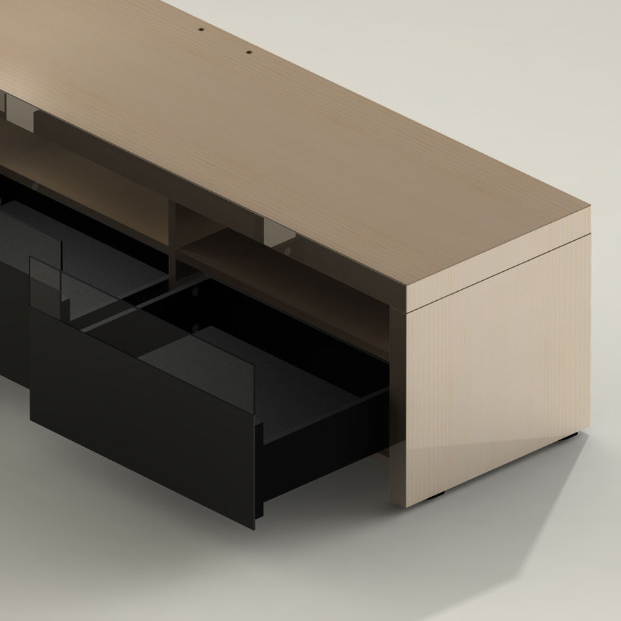 TV Furniture Drawers royalty-free 3d model - Preview no. 12