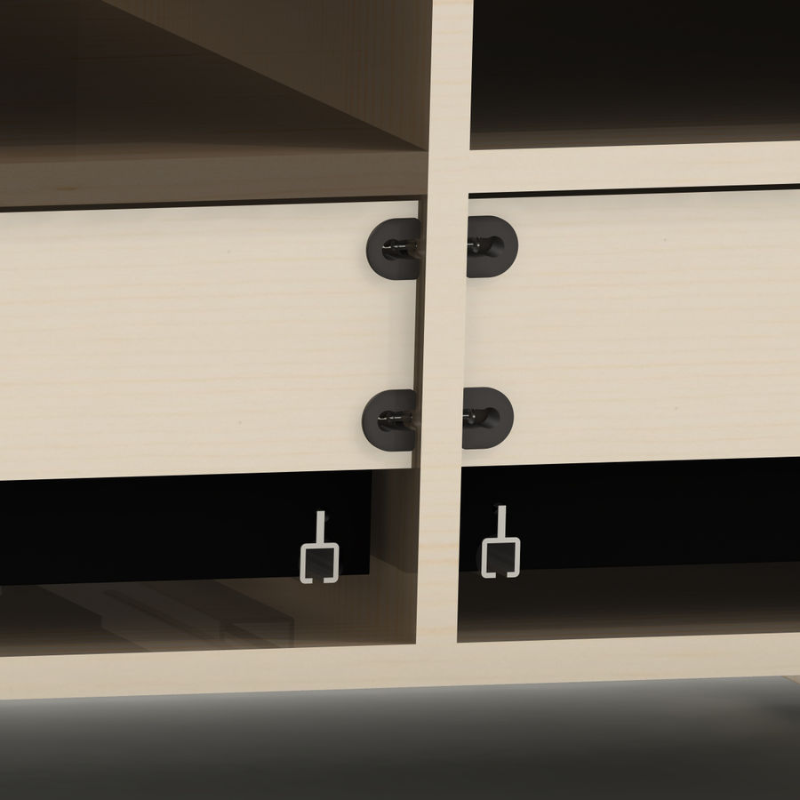 TV Furniture Drawers royalty-free 3d model - Preview no. 13