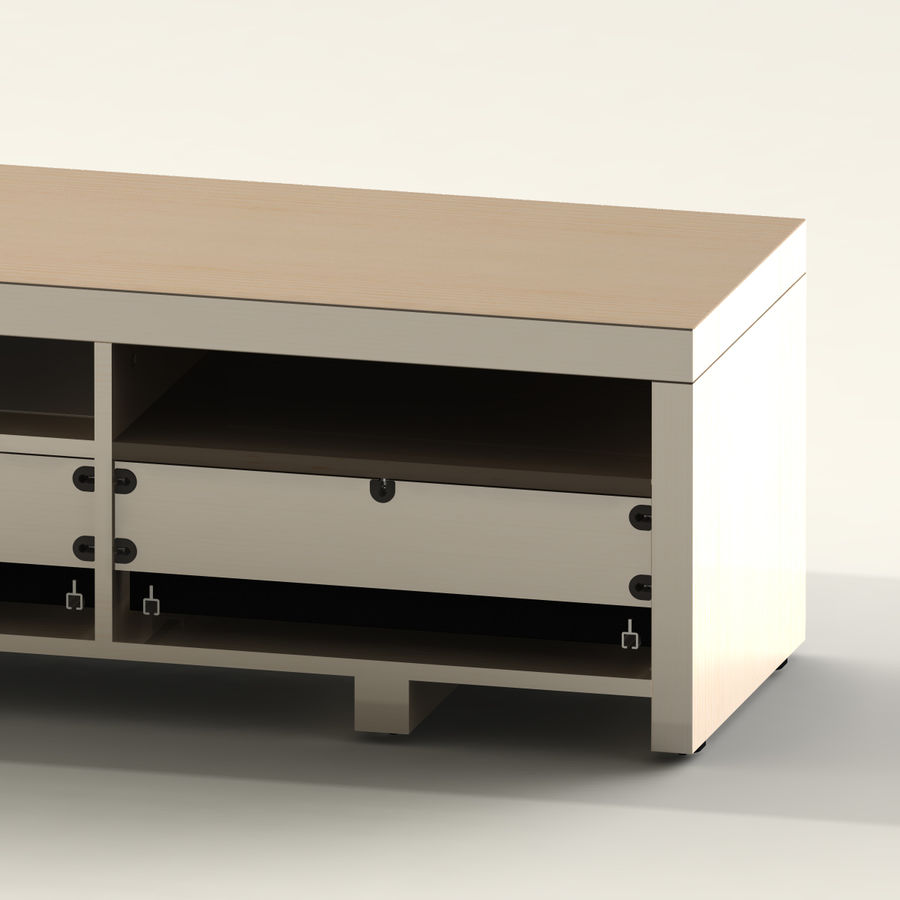 TV Furniture Drawers royalty-free 3d model - Preview no. 9