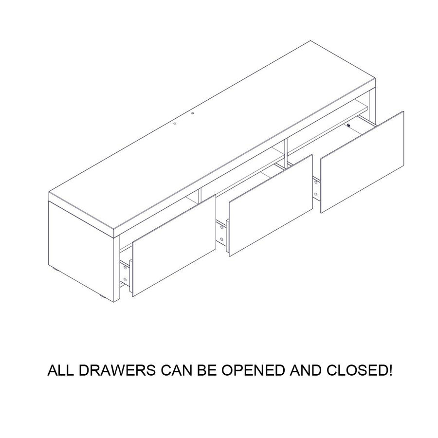 TV Furniture Drawers royalty-free 3d model - Preview no. 19