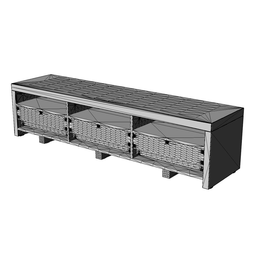 TV Furniture Drawers royalty-free 3d model - Preview no. 17