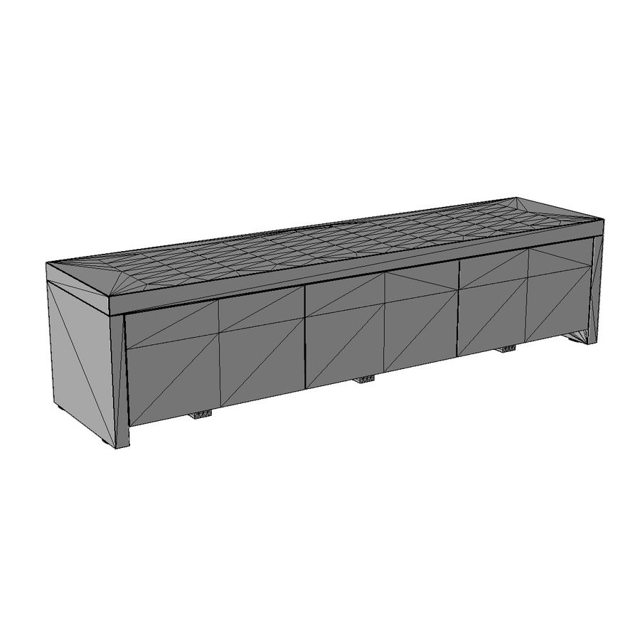 TV Furniture Drawers royalty-free 3d model - Preview no. 16