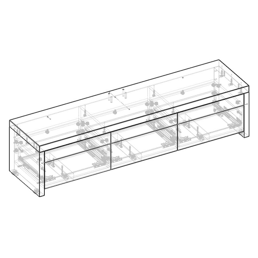 TV Furniture Drawers royalty-free 3d model - Preview no. 15