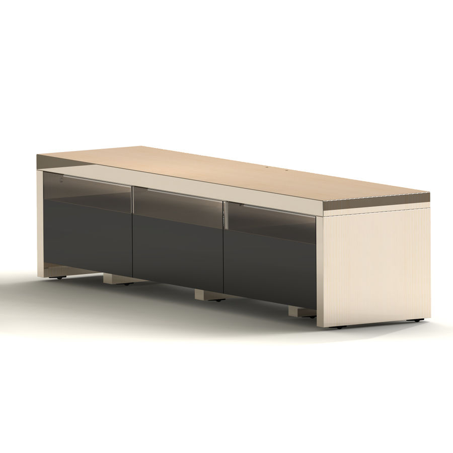 TV Furniture Drawers royalty-free 3d model - Preview no. 6