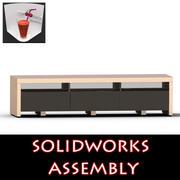 Tiroirs de meubles de télévision 3d model