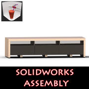 TV Furniture Drawers 3d model