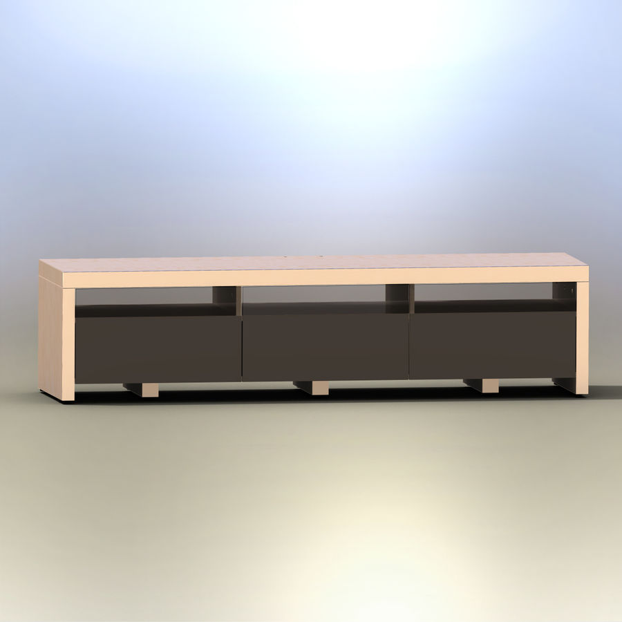 TV Furniture Drawers royalty-free 3d model - Preview no. 2