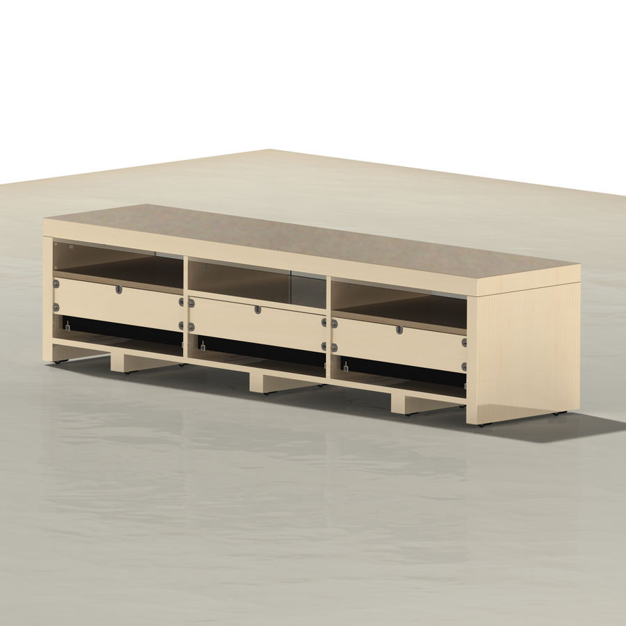 TV Furniture Drawers royalty-free 3d model - Preview no. 4