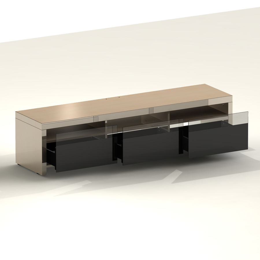 TV Furniture Drawers royalty-free 3d model - Preview no. 11
