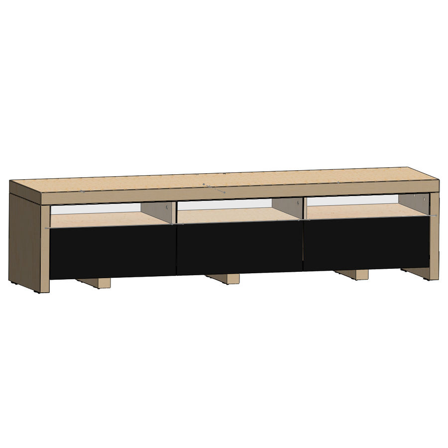 TV Furniture Drawers royalty-free 3d model - Preview no. 14