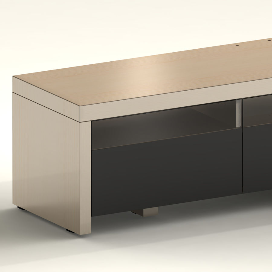 TV Furniture Drawers royalty-free 3d model - Preview no. 10
