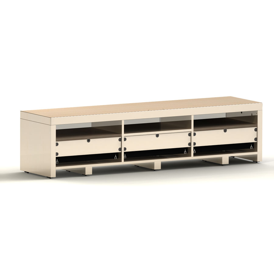 TV Furniture Drawers royalty-free 3d model - Preview no. 5