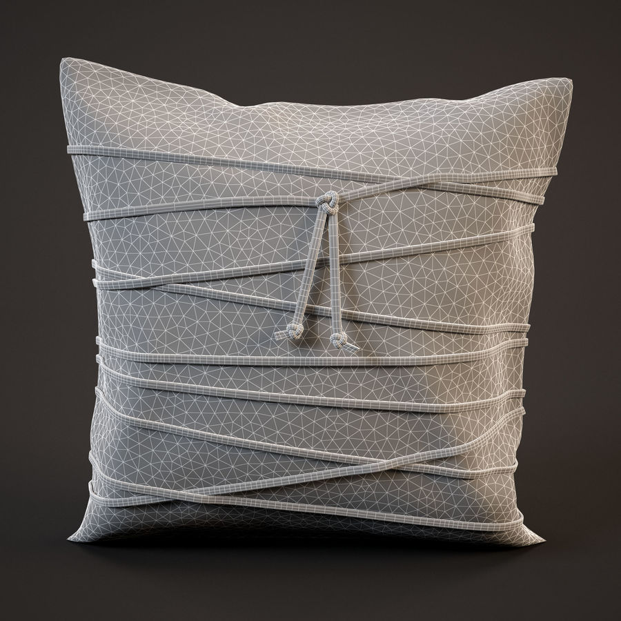 Pillow (19) royalty-free 3d model - Preview no. 3