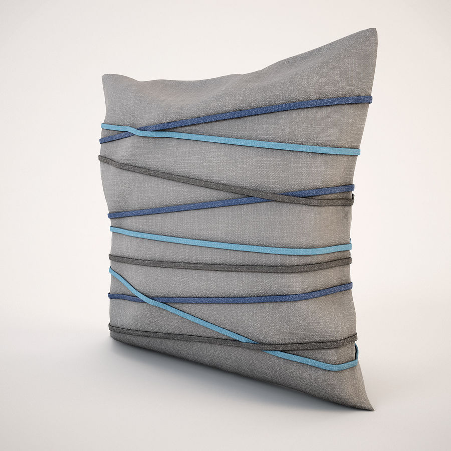 Pillow (19) royalty-free 3d model - Preview no. 6