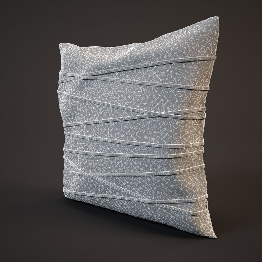 Pillow (19) royalty-free 3d model - Preview no. 7