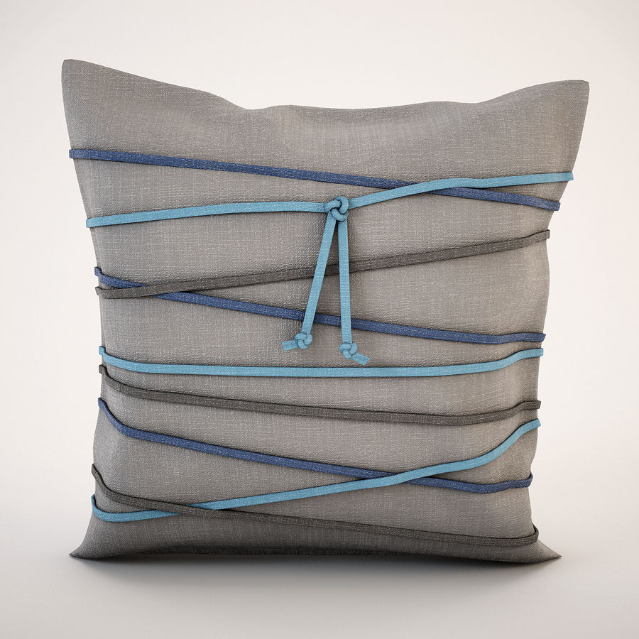 Pillow (19) royalty-free 3d model - Preview no. 2