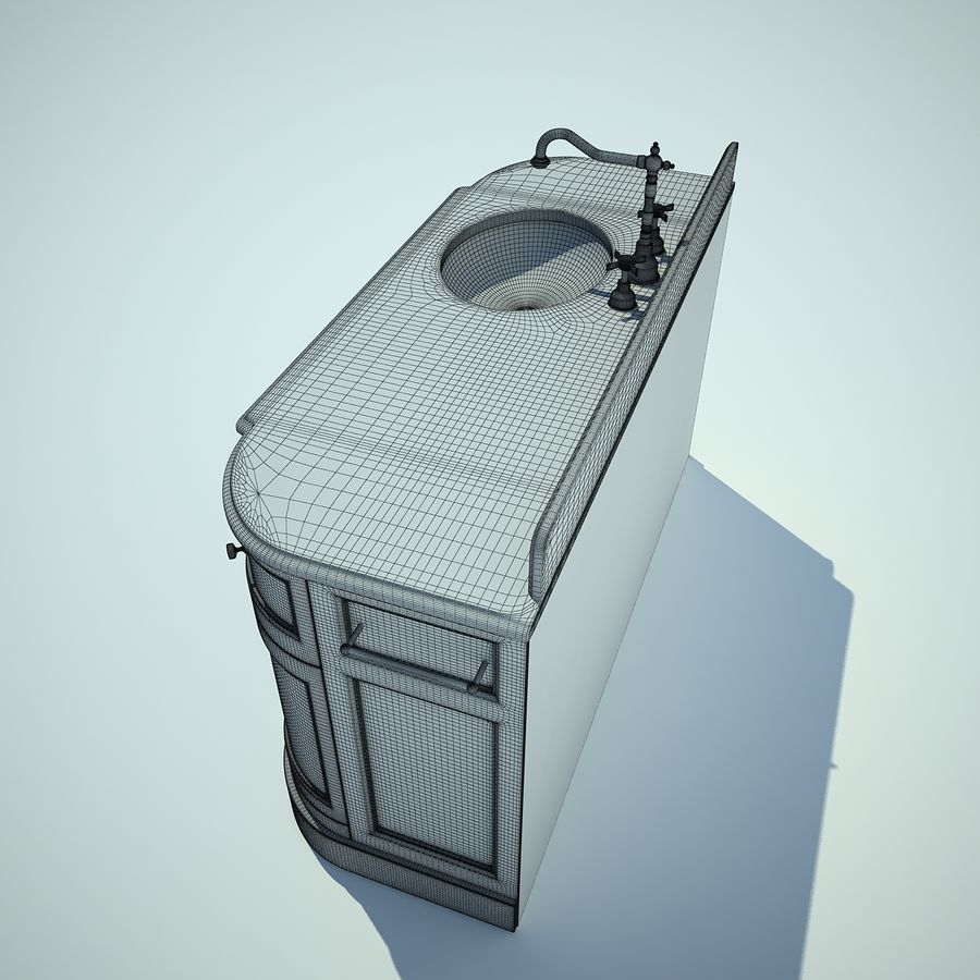 縁石トイレ royalty-free 3d model - Preview no. 6