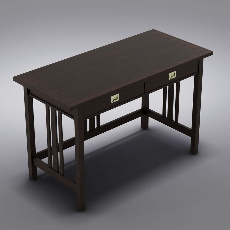 Sandık ve Fıçı - Landon Desk royalty-free 3d model - Preview no. 1