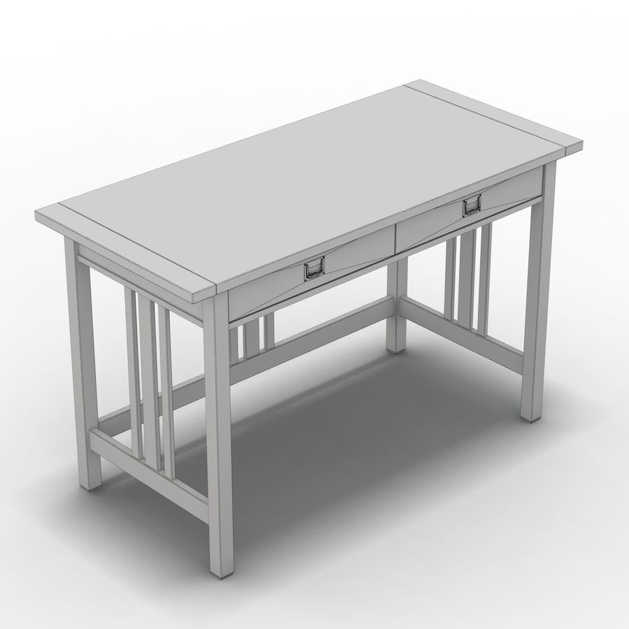 Sandık ve Fıçı - Landon Desk royalty-free 3d model - Preview no. 2