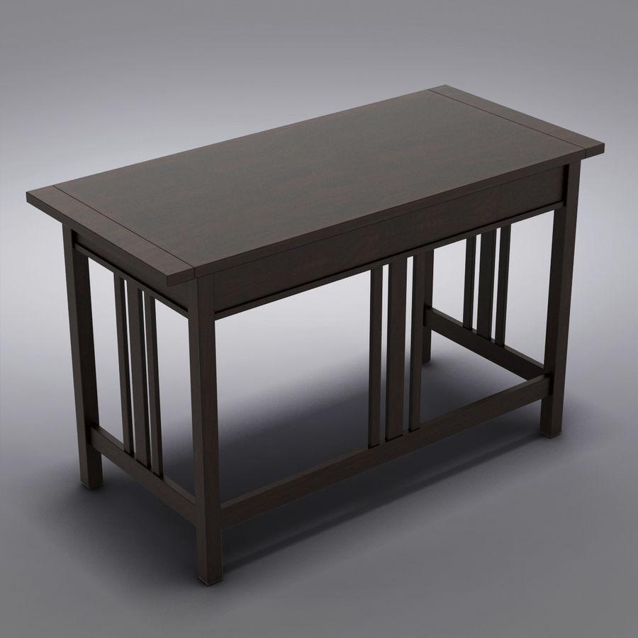 Sandık ve Fıçı - Landon Desk royalty-free 3d model - Preview no. 8