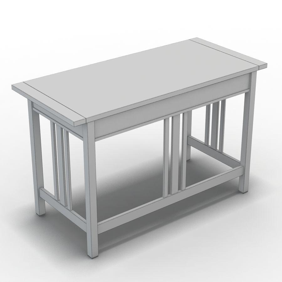 Sandık ve Fıçı - Landon Desk royalty-free 3d model - Preview no. 7