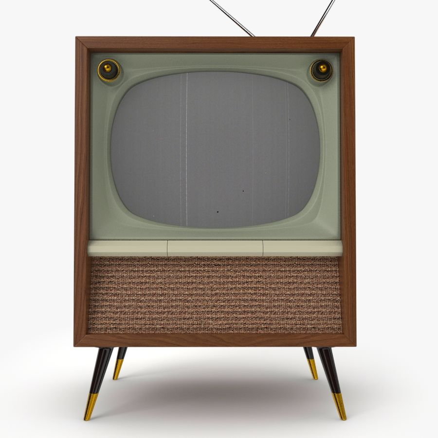 Retro television royalty-free 3d model - Preview no. 2