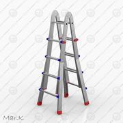 aluminum ladder 3d model