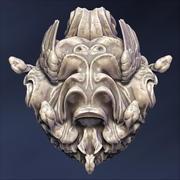 Скульптура Голова Медузы 3d model