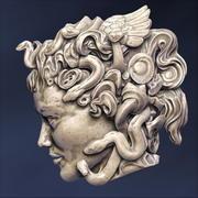 Medusa Head sculpture 3d model