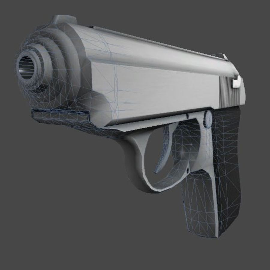 枪手枪 royalty-free 3d model - Preview no. 1