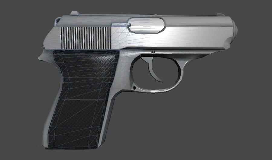 枪手枪 royalty-free 3d model - Preview no. 5