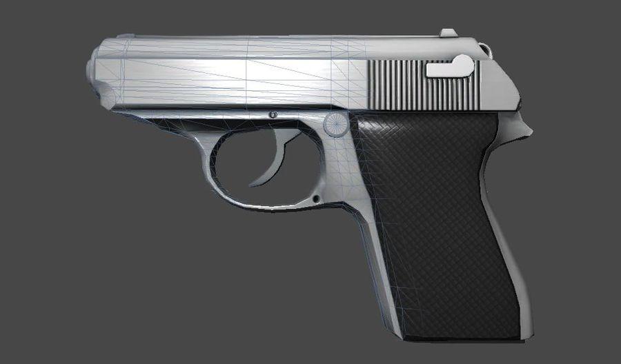 枪手枪 royalty-free 3d model - Preview no. 3