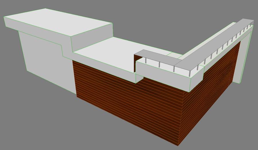 Resepsiyon masası royalty-free 3d model - Preview no. 3