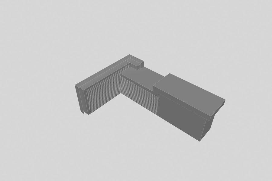 Resepsiyon masası royalty-free 3d model - Preview no. 4