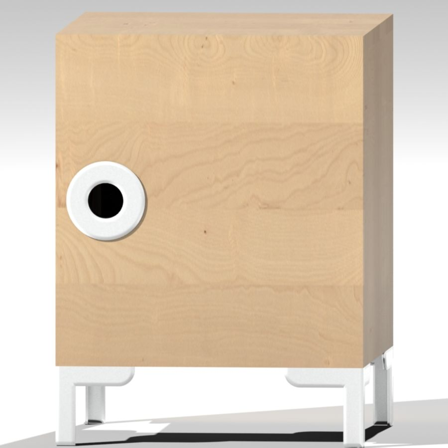 IKEA ENGAN Bedside Cabinet royalty-free 3d model - Preview no. 4