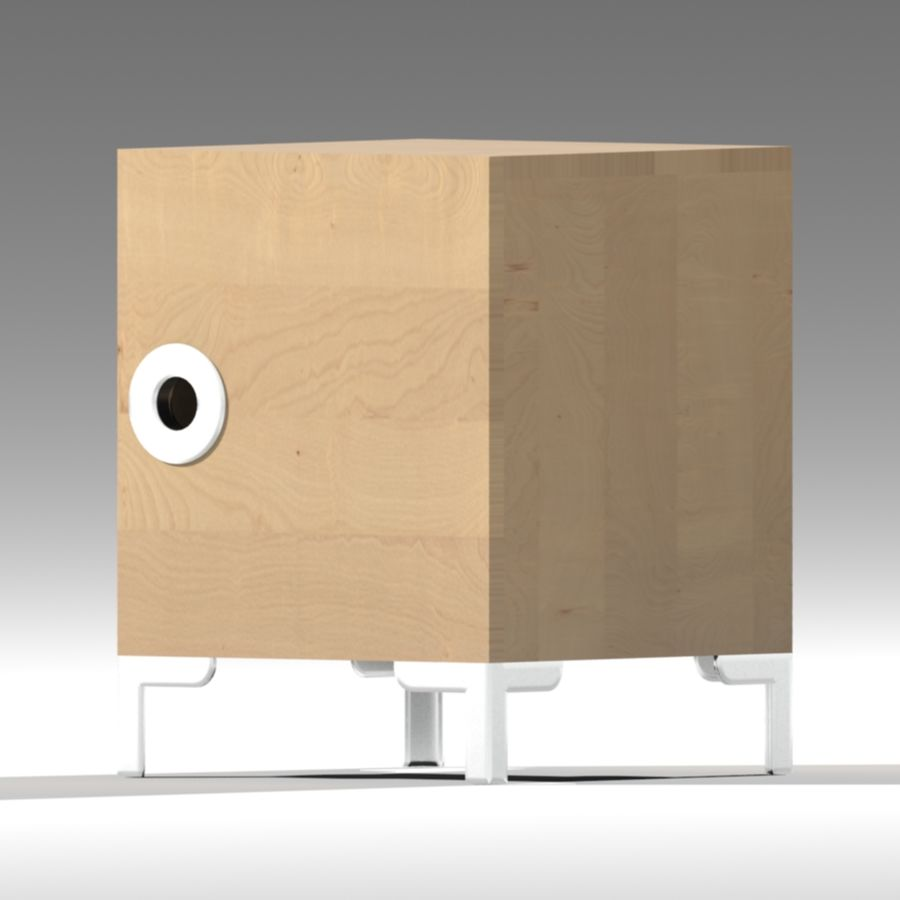IKEA ENGAN Bedside Cabinet royalty-free 3d model - Preview no. 1