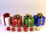 Collezione di decorazioni natalizie 3d model