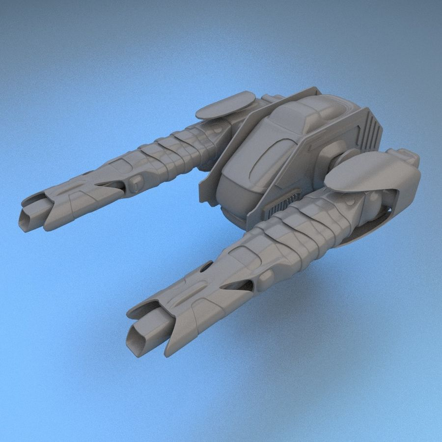 Śmigłowiec bojowy royalty-free 3d model - Preview no. 7
