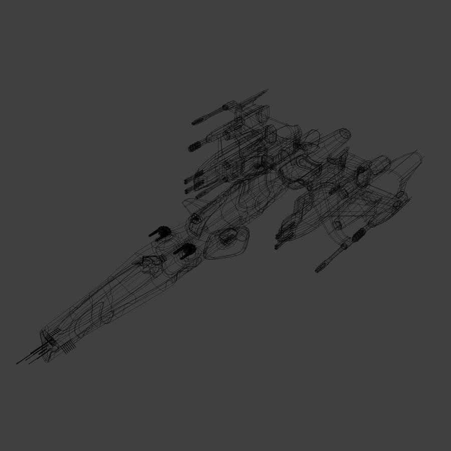 Śmigłowiec bojowy royalty-free 3d model - Preview no. 2