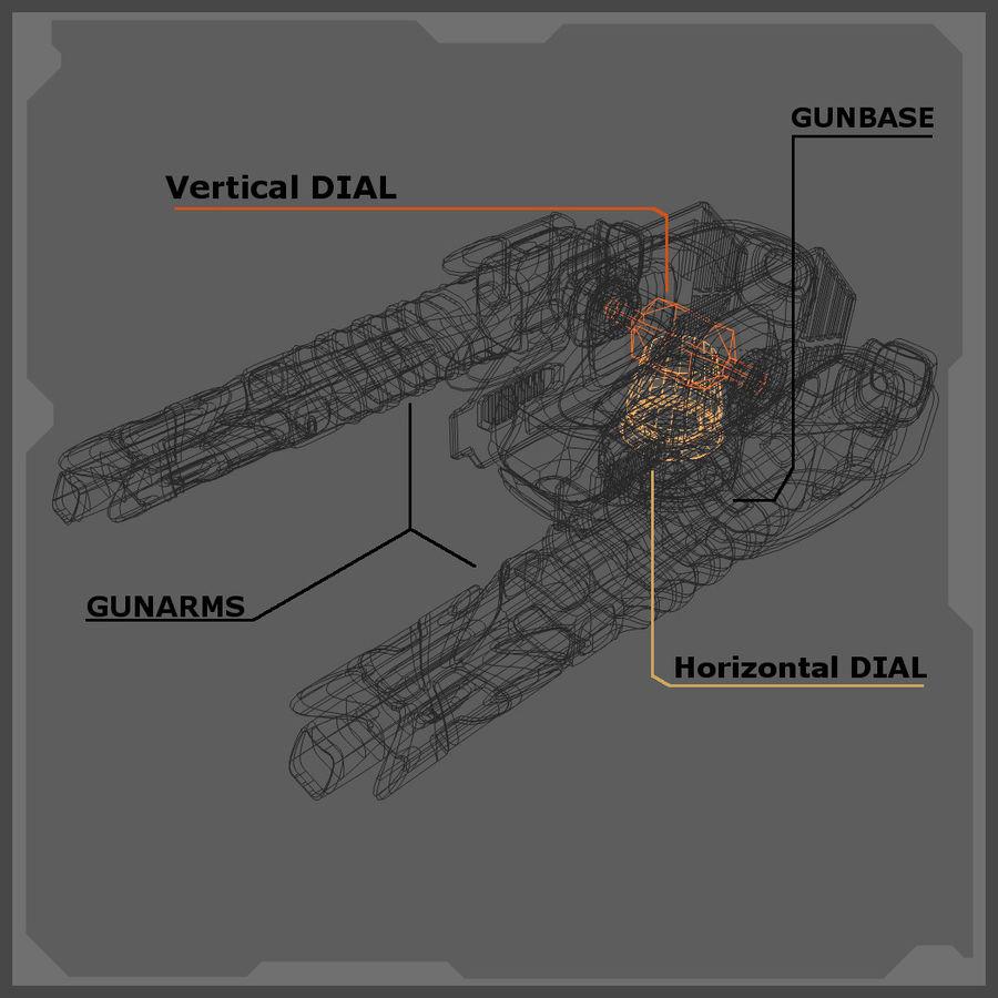 Śmigłowiec bojowy royalty-free 3d model - Preview no. 8