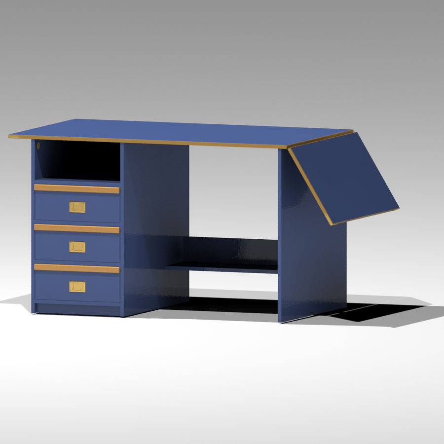 Desk royalty-free 3d model - Preview no. 3