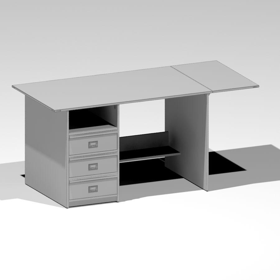 Desk royalty-free 3d model - Preview no. 5