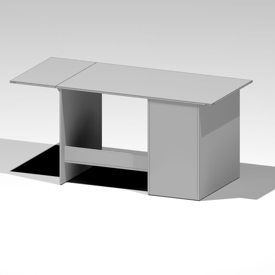 Desk royalty-free 3d model - Preview no. 6