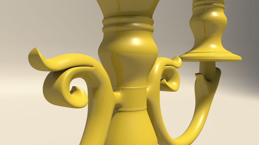 Candelabro royalty-free 3d model - Preview no. 9