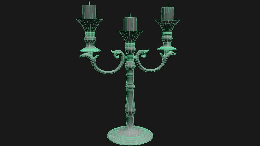 Candelabro royalty-free 3d model - Preview no. 3
