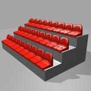 Sittplats på stadion 3d model