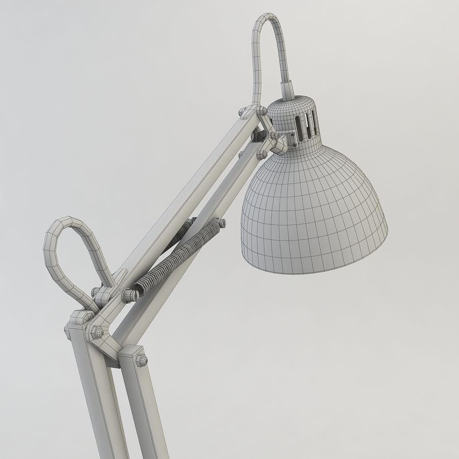 Schreibtischlampe Chrom royalty-free 3d model - Preview no. 6